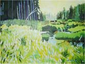 Silver Lead Creek. Marquette County, 2006. 30 x 20 in, acrylic on half-inch foam board.